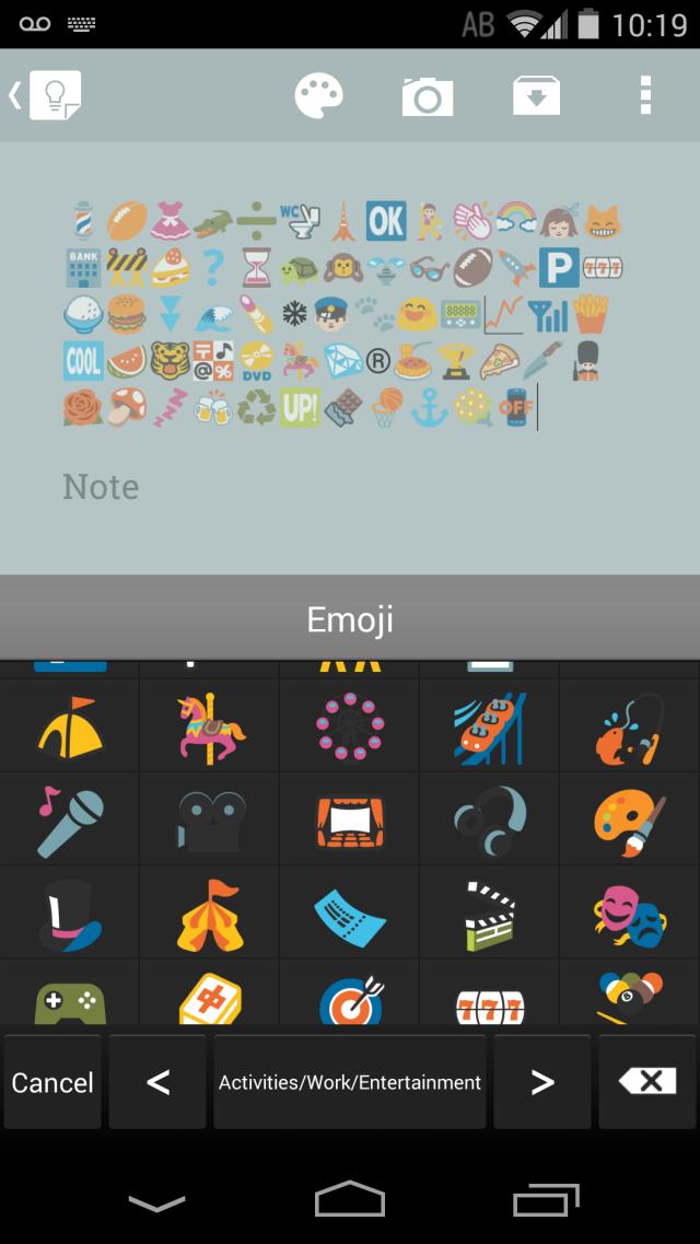 An emoji-packed screenshot.