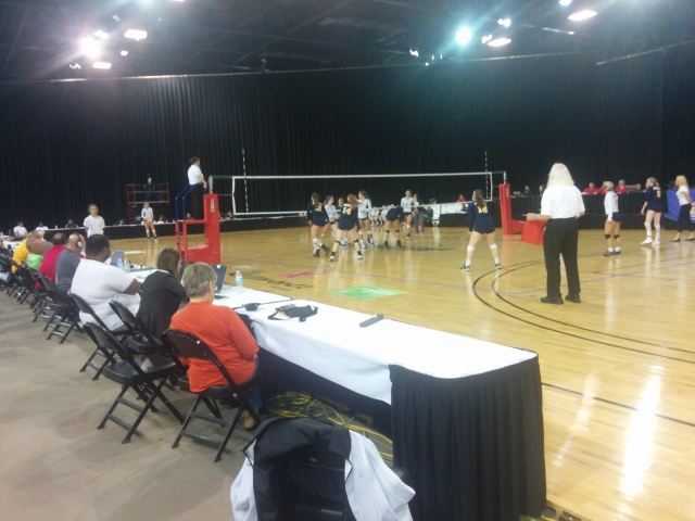 The Steinbrenner and St. Thomas Aquinas squads compete at the FHSAA volleyball tournament in Kissimmee.